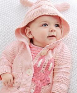 Pink Bunny Cardigan