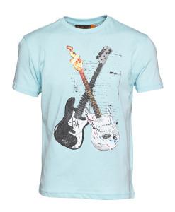 BEN SHERMAN Blue Guitar T-Shirt