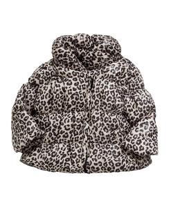 Leopard Print Padded Coat