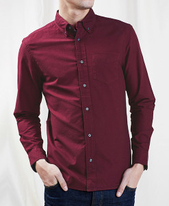 Claret Oxford Shirt