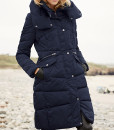 Navy Long Puffa Coat