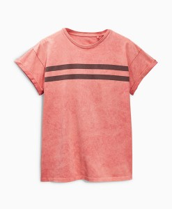 Coral Stripe T Shirt