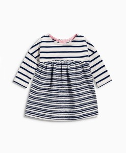 Next Navy Striped Jersey Dress