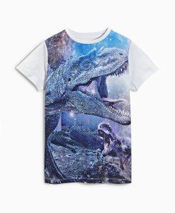 Dinosaur Galaxy Print T Shirt