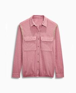 Next Purple Washed Shirt