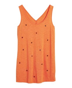 Next Orange Embellished Vest