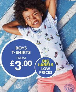 Boys T-Shirts From £3 Choice Discount