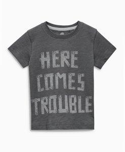 Choice Discount Grey Slogan T-Shirt Next