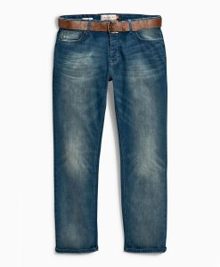 Choice Discount Teal Wash Belted Jeans Next