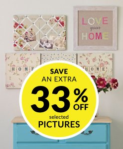 33% off Selected Pictures & Canvases at Choice