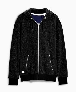 Choice Discount Black Speckle Hoodie Next