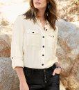 Choice Tencel cream shirt Next