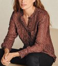 Next Round Neck Patterned Blouse Choice Discount