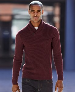 Choice Burgandy shawl jumper Next