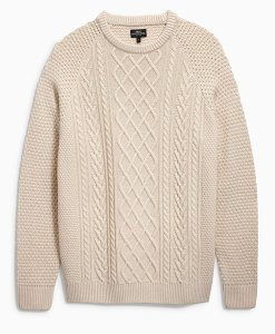 Cream Cable Crewneck