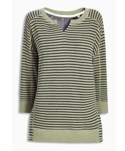 Choice Green and Black Striped Sweatshirt Next