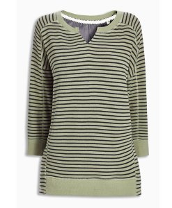 Choice Green and Black Striped Sweatshirt Next