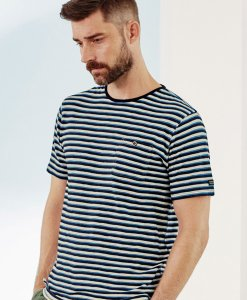 Choice Indigo Stripe T-Shirt Next