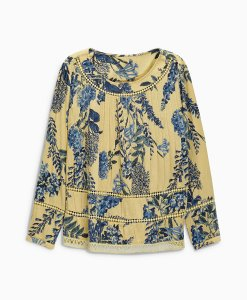 Choice Discount Flower Pleated Blouse Next