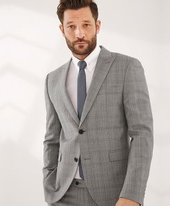 Next Grey Check Slim-Fit Suit Jacket Choice Discount
