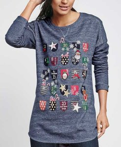 Next Christmas Advent Sweatshirt Choice Discount