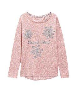 Next Pink Wonderland Snowflake Top Choice Discount
