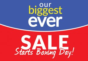 Our Biggest Ever Choice Discount Sale Starts Boxing Day