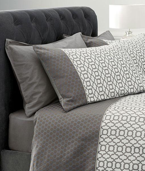 Silver Geo Jacquard Duvet Covers
