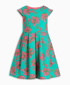 Next Green Floral Dress Choice Discount