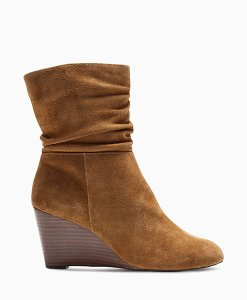 Next Slouch Tan Wedge Boots Choice Discount