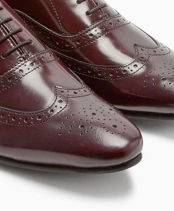 Next Burgundy Shine Brogues Choice Discount