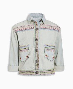 Next Embroidered Denim Western Jacket Choice Discount