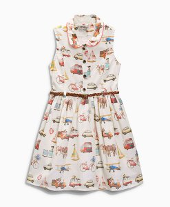 Next Travel Print Belted Dress Choice Discount