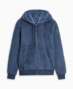 Next Navy Fleece Hoodie Choice Discount