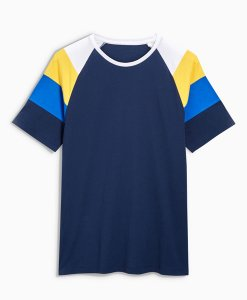 Choice Discount Raglan Navy Block T-Shirt Next