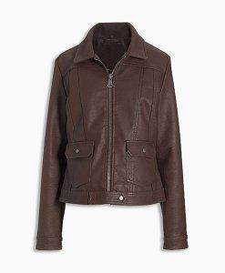 Next Western Faux Fur Brown Jacket Choice Discount