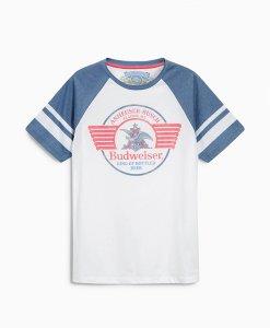 Choice Discount White Ranglan T-Shirt Next
