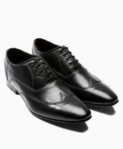 Next Black Wing Cap Oxford Shoes Choice Discount