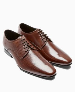 Next Brown Pebble Derby Shoes Choice Discount
