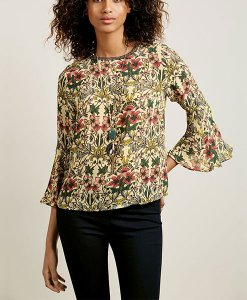 Next Ditsy Flute Sleeve Blouse Choice Discount