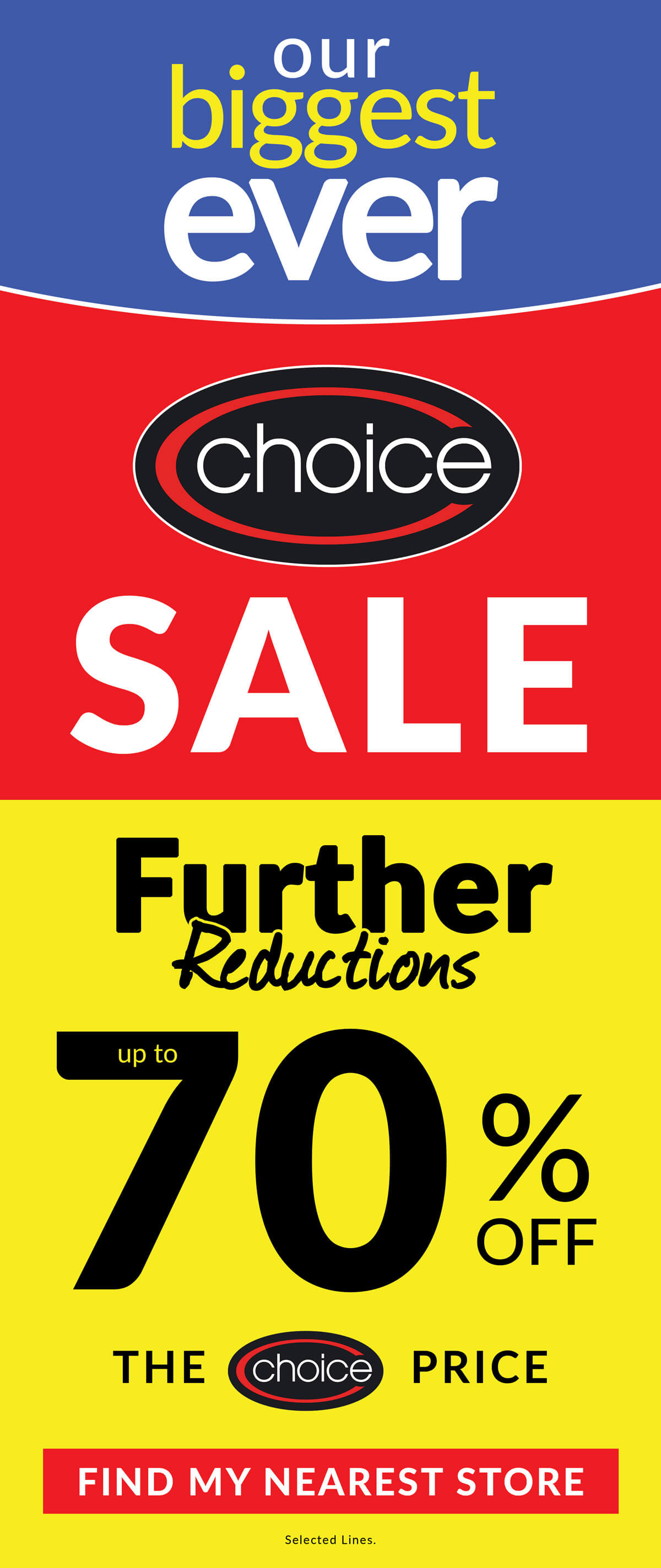 Choice Sale Now On!