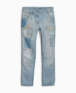 Next Blue Patch Jeans Choice Discount