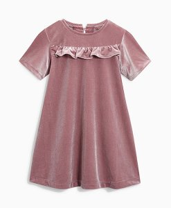 Next Pink Velour Dress Choice Discount
