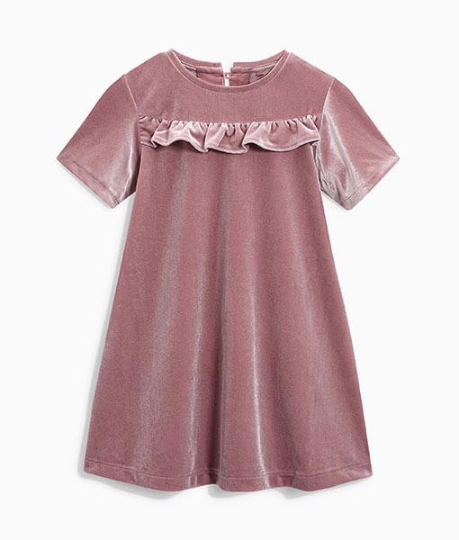 Next Pink Velour Dress Choice Discount