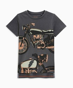 Next Charcoal Motorbike T-Shirt Choice Discount