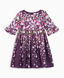 Next Berry Border Print Dress Choice Discount