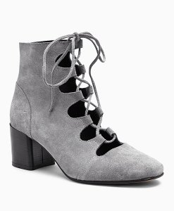 Next Grey Ghillie Lace Block Heels Choice Discount