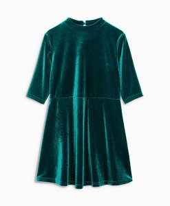 Next Green Velvet Shift Dress Choice Discount
