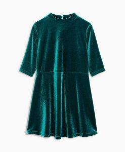 Next Green Velvet Shift Dress Choice Discount