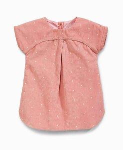 Next Pink Spot Cord Dress Choice Discount